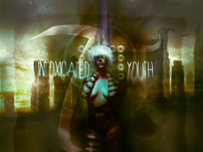 Master of Make-Believe {Omega's Gallery}  Intoxicated_green_city___wall_by_poolichoo-d5ie84z