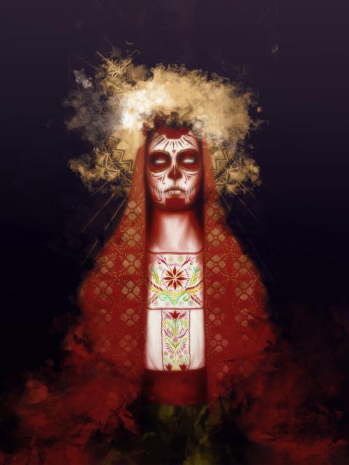 Master of Make-Believe {Omega's Gallery}  Dia_de_los_muertos_by_poolichoo-d5jrjuy