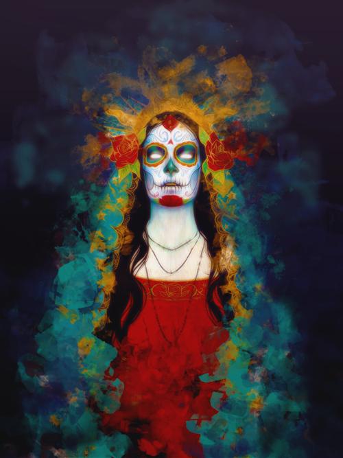 Master of Make-Believe {Omega's Gallery}  Dia_de_los_muertos_ii_by_poolichoo-d5jtphp
