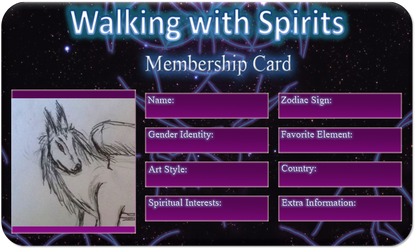 walking with spirits member card by novadragon1000