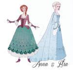 18th Cenury Disney: Anna and Elsa