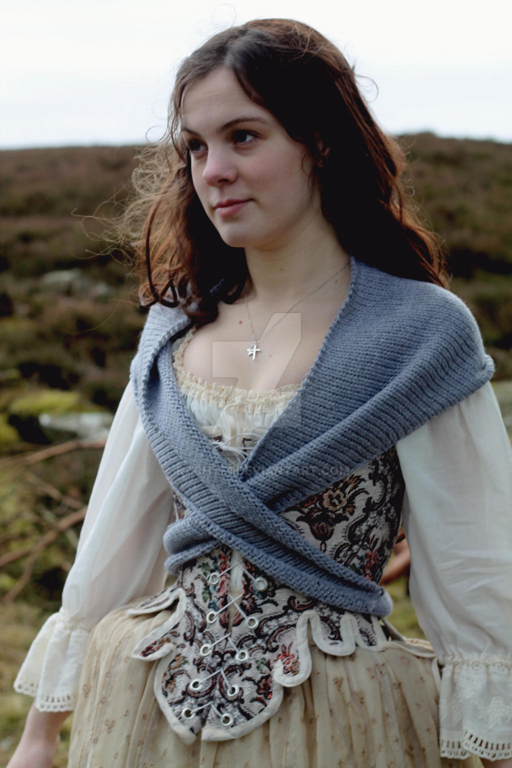Corset and shawl by Rachyf1