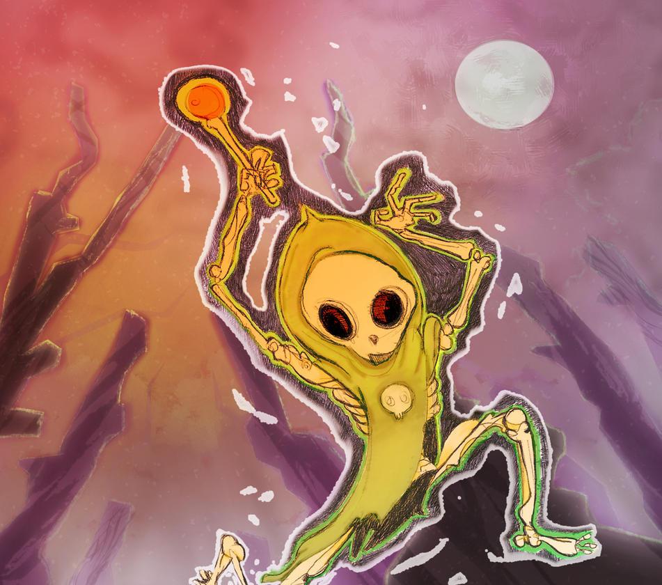 Skeleton Mage by MarcusBinge