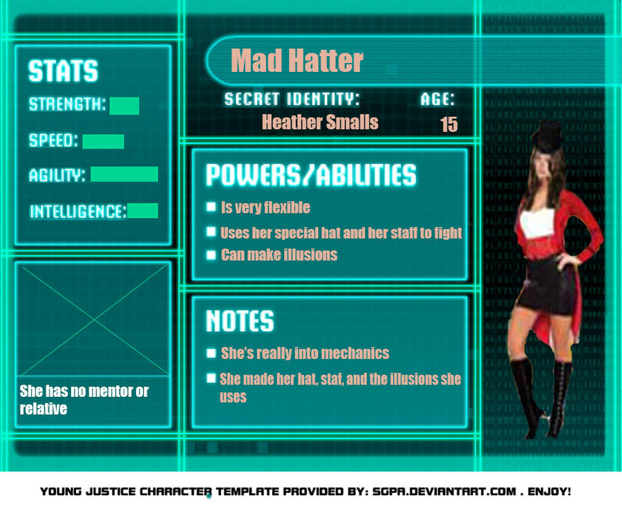 Young Justice stats by AmberShepard on DeviantArtYoung Justice Season 3 Character Bios