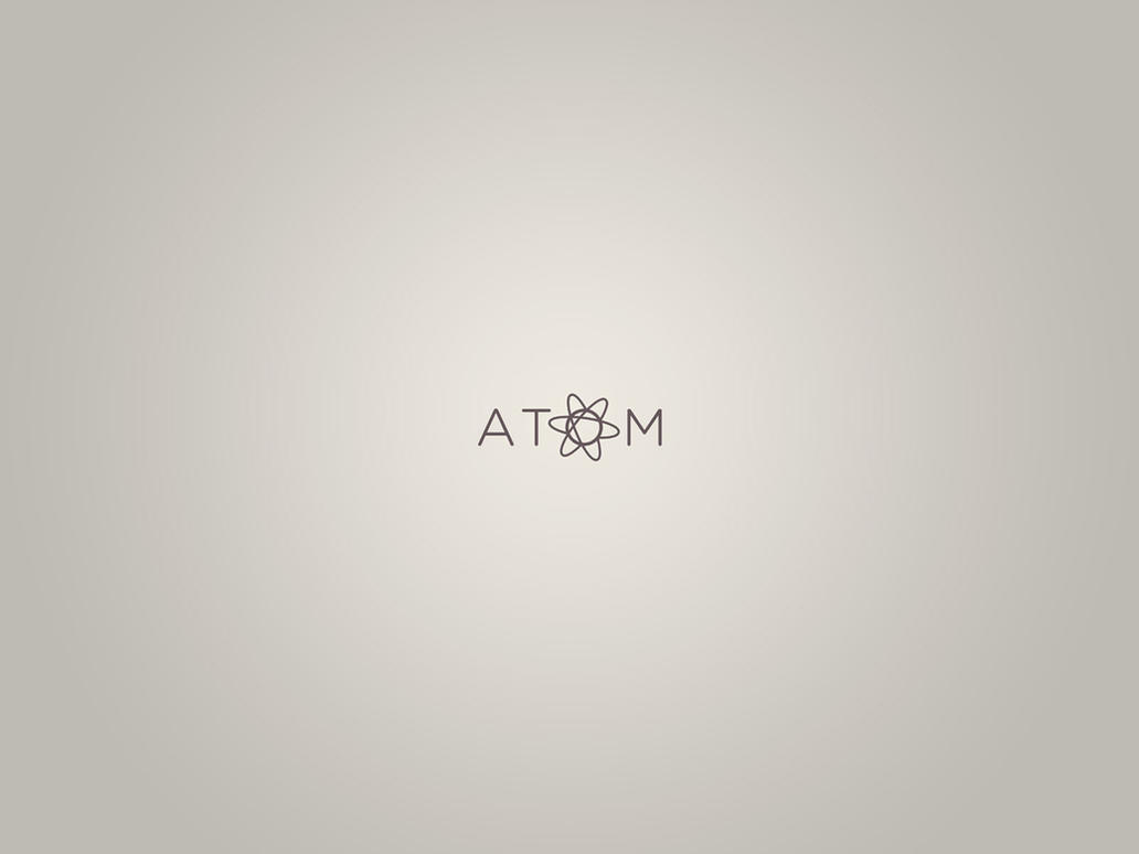Minimal atom editor wallpaper by synetcon on deviantart for Deviantart minimal wallpaper