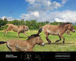 Panthera spelaea and Equus ferus
