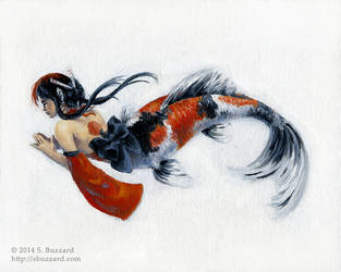 Koi Mermaid by SBuzzard