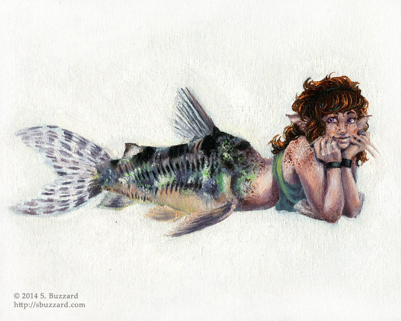 The Mermaid Manual: Cory Catfish by SBuzzard