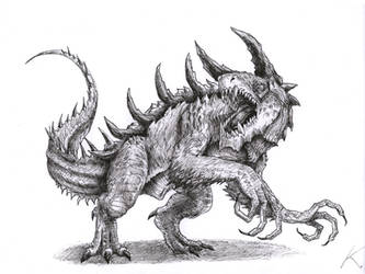 DnD creature - Tarrasque by Khronen