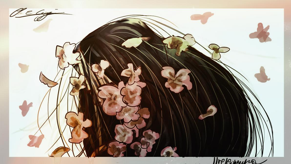Hikaru Genji + wisteria by ilreleonewikia