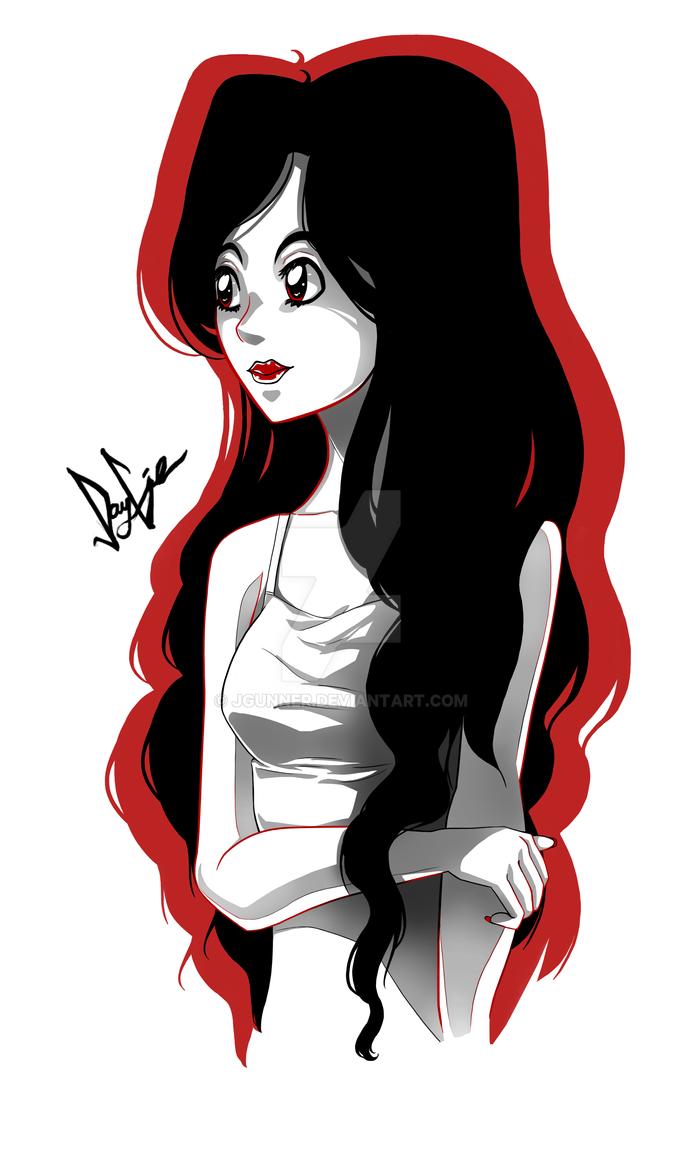 Girl drawing by JGunner