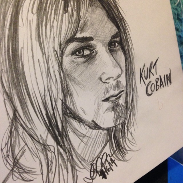 Kurt Cobain Sketch. by MsZVG