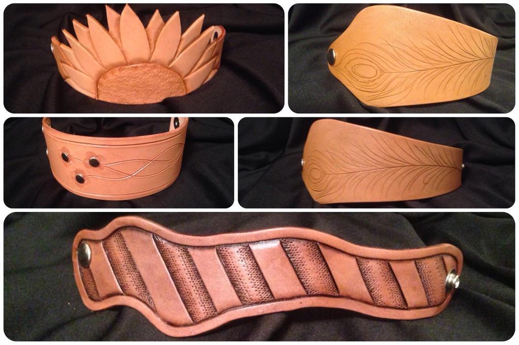Bracelets by leathercraft1990
