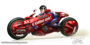 Akira Fan Art - Kaneda's Bike