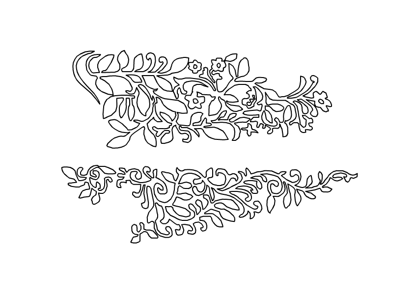 vectorised vorpal blade print (both sides