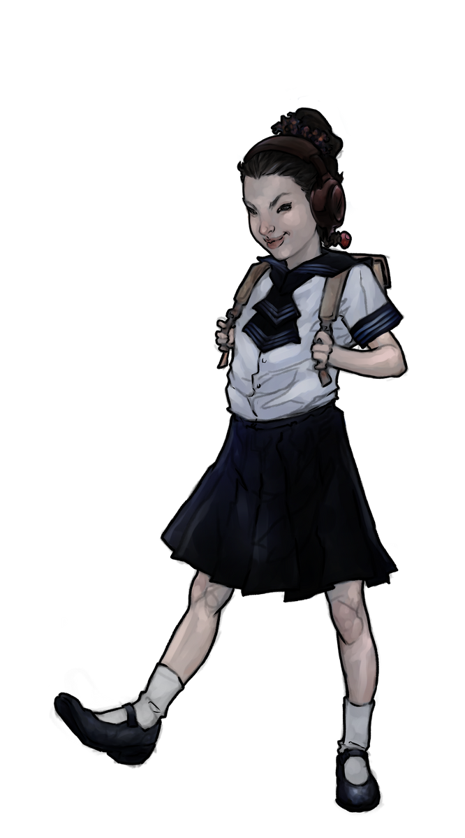 Ling Ling in School Uniform by try1001me