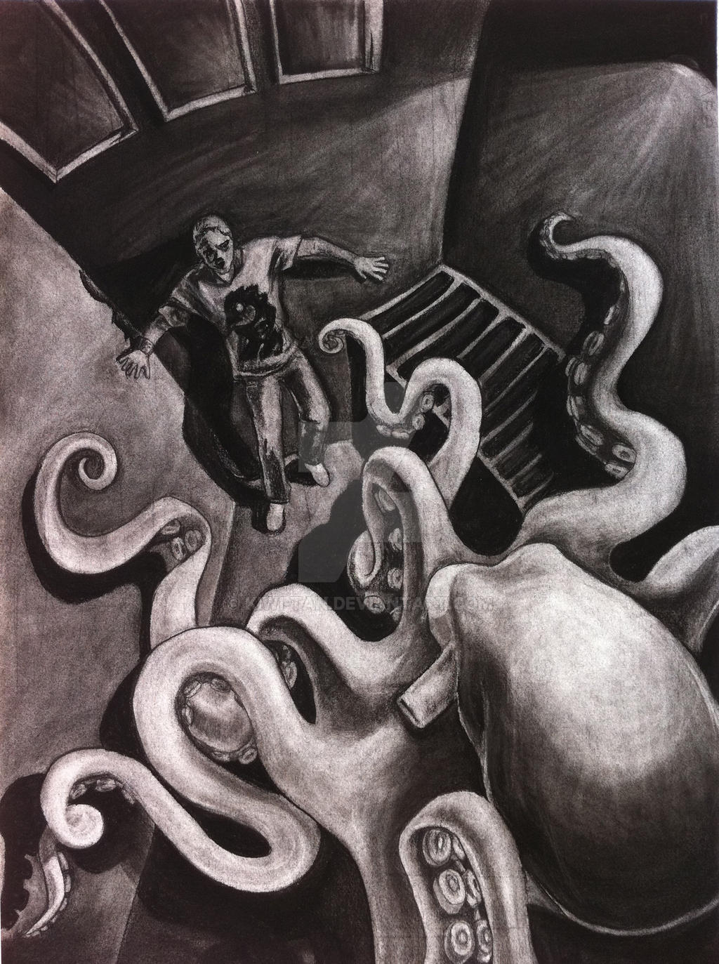 angry octopus drawing - photo #7