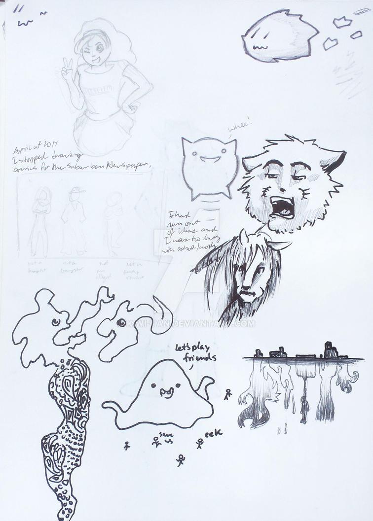 Random doodles by Kiwi-tan