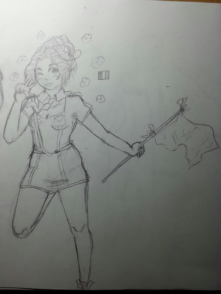 Nyotalia Italy Sketch by iRin3Kagamin3
