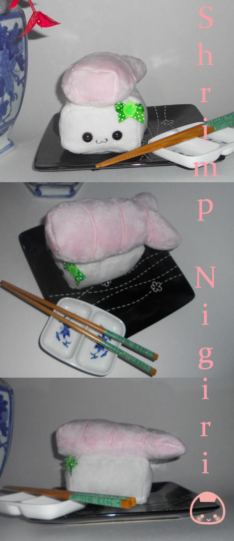 Shrimp Nigiri Plushie by Love-Who