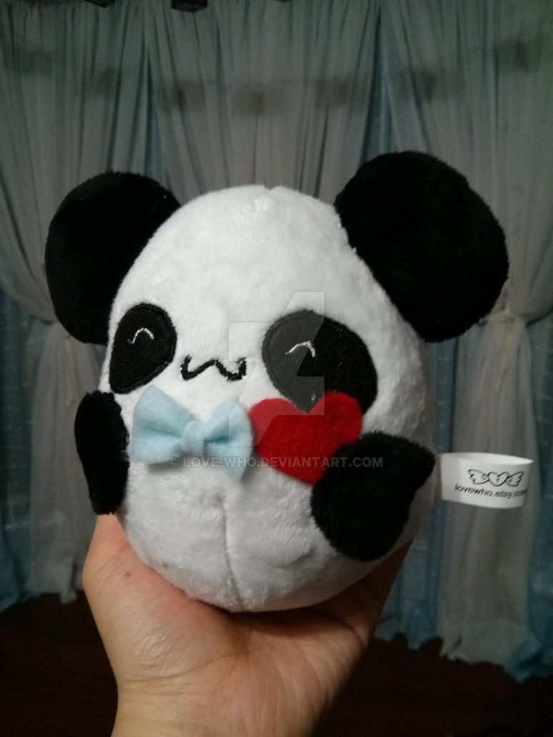 snazzy panda plushie by Love-Who
