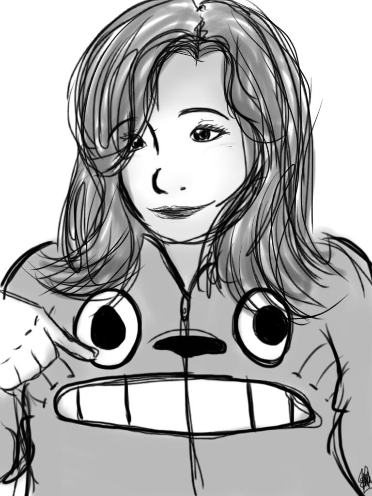 Yo en dibujo  by miremi14