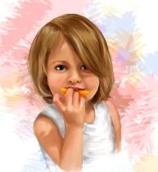 Portrait of child by Larinor
