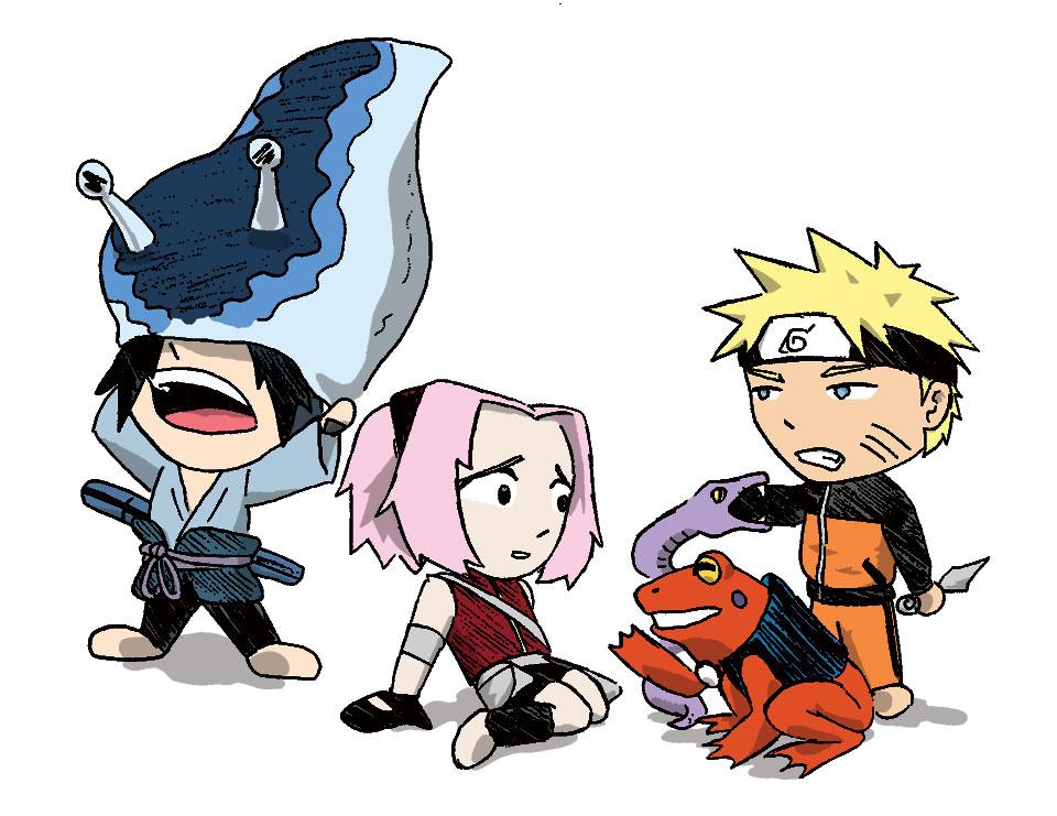 Naruto - Team 7 Sannin 2 color by DocDestructoNaruto Shippuden Team 7 Assemble