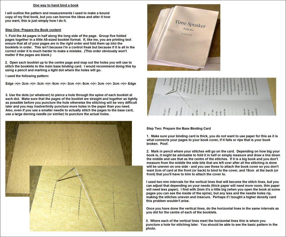 Tutorial: Hand Book Binding 1 by keyanadrake