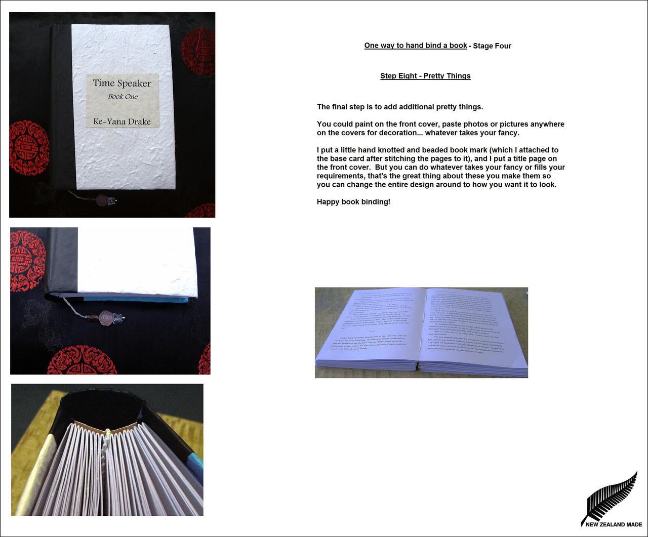 Tutorial: Hand Book Binding 4 by keyanadrake