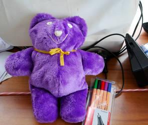Purple squishy bear