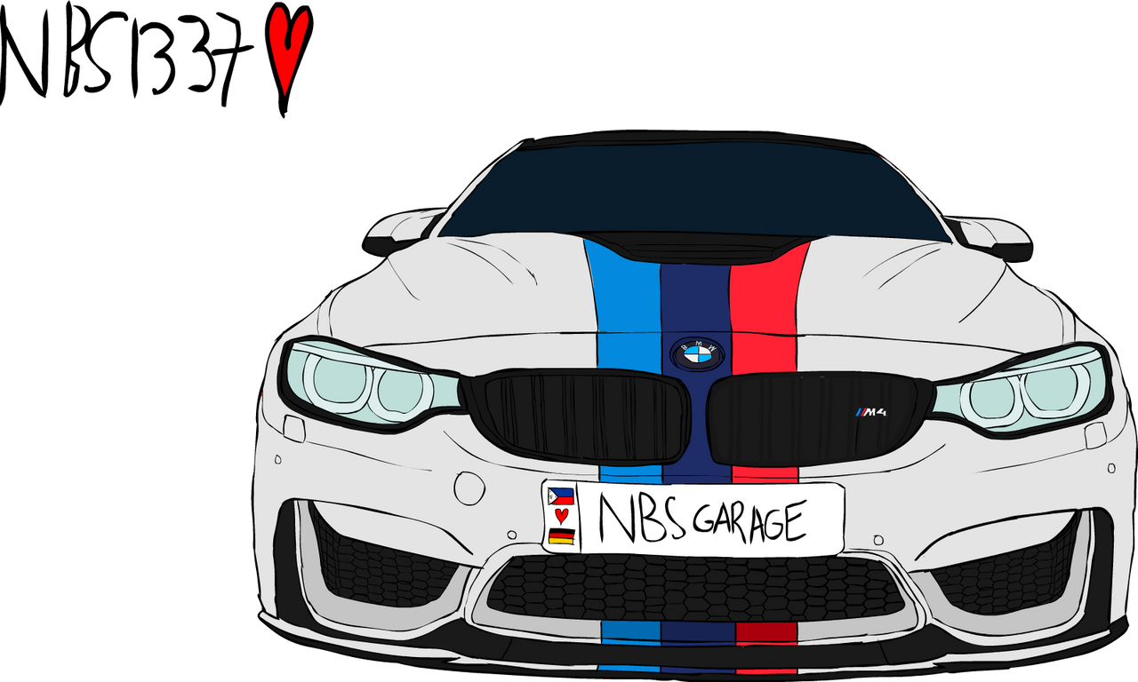 Bmw M4 White With M Stripe By Noobslayers1337 On Deviantart