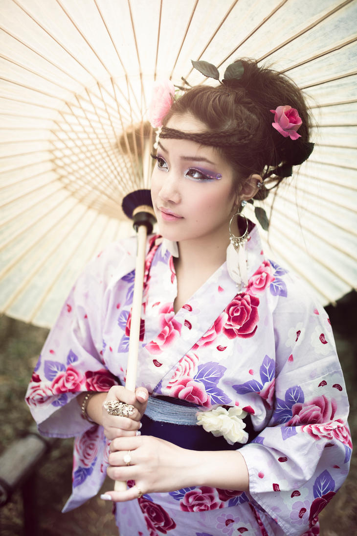 Spring Rose Yukata by Haych