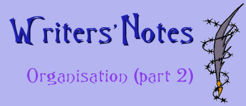 Writers Notes - Organisation 2 by DarkDelusion