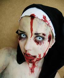 Zombie nun by Helen-Stifler