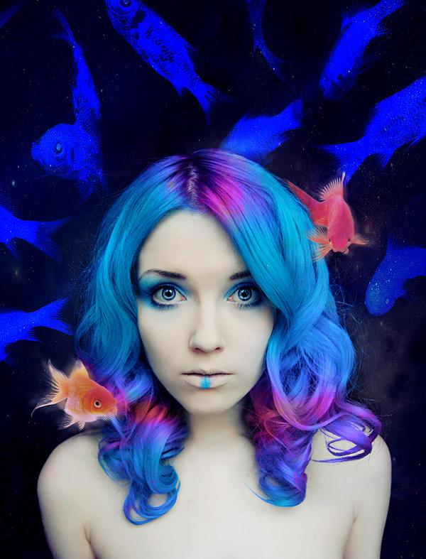 Space Mermaid by Helen-Stifler