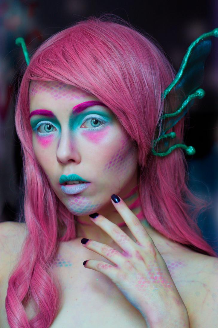 Lonely Mermaid Halloween makeup by Helen-Stifler