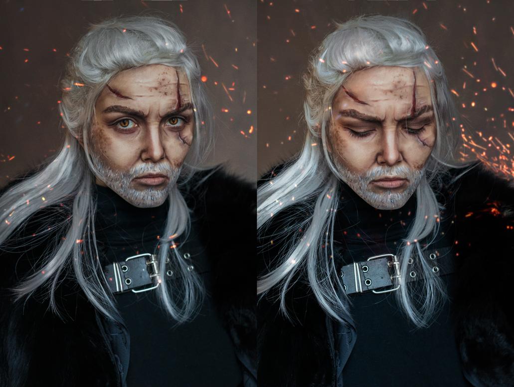 Geralt of Rivia (Wild Hunt) by Helen-Stifler