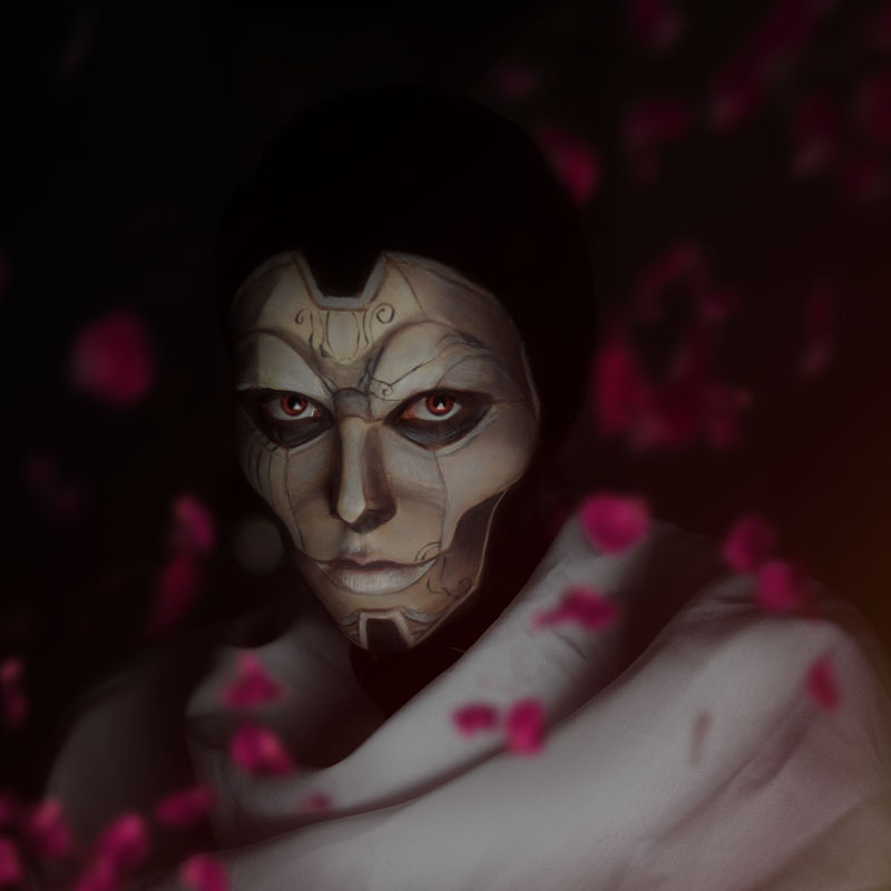 Jhin the Virtuoso makeup