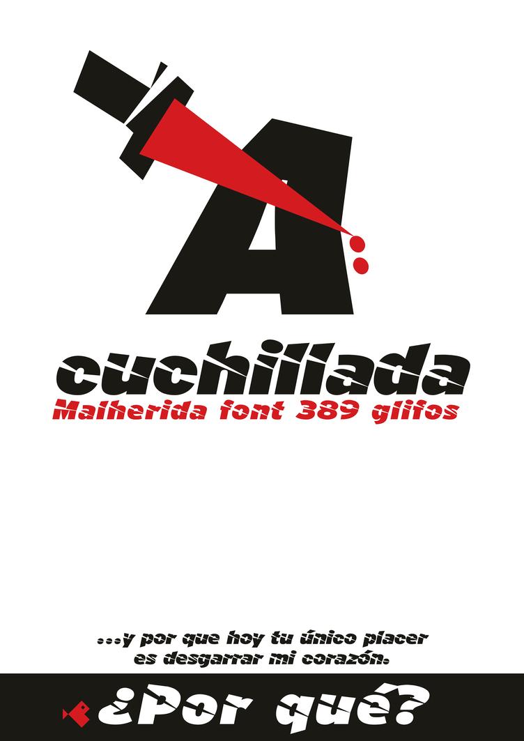 Cartel-tipografia-acuchillada-font-hi by defharo
