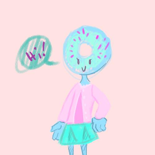 Donut girl by Destiny-Llama