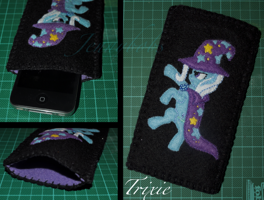 MLP Trixie felt phone case by Blindfaith-boo