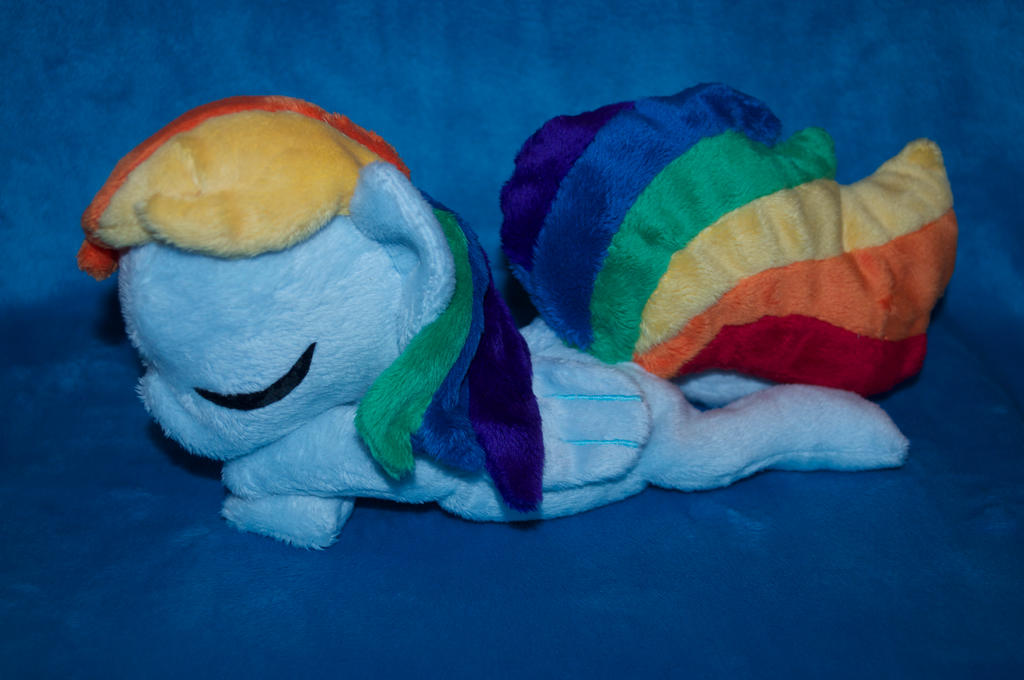 Rainbow Dash beanie/plush by Blindfaith-boo