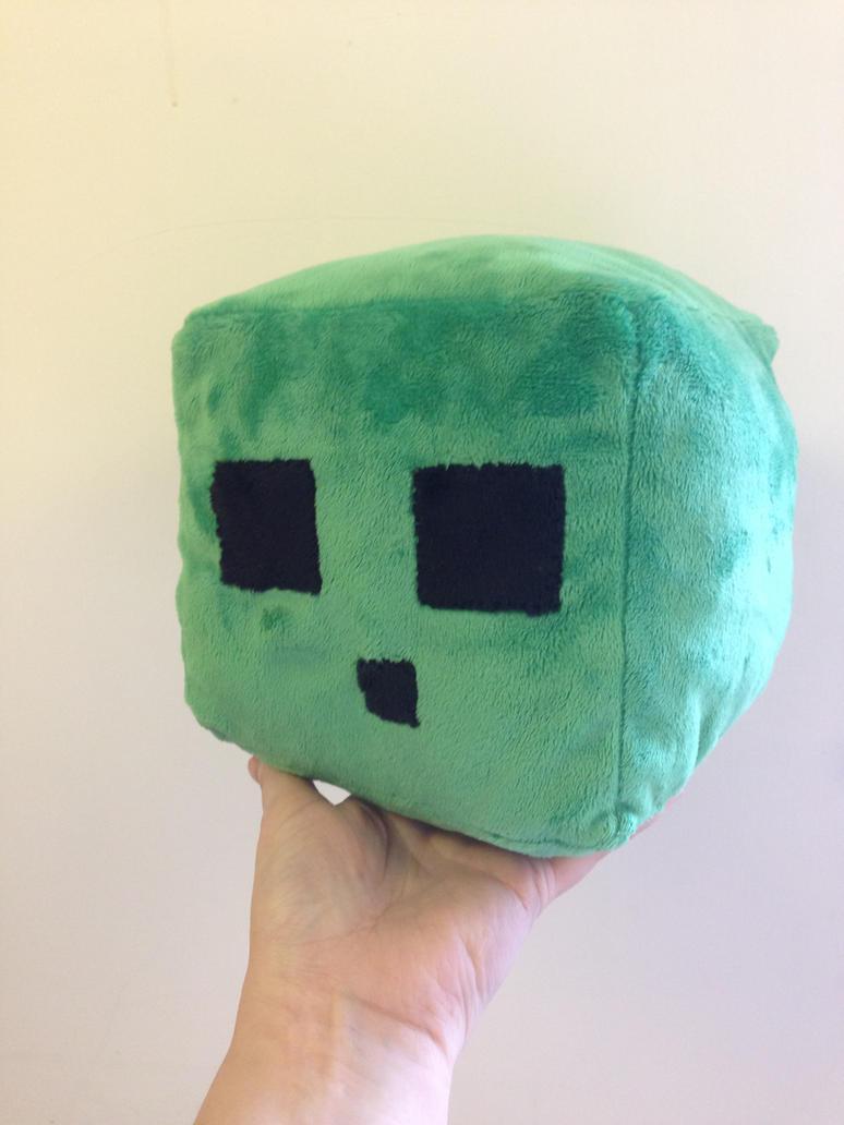Minecraft slime plush by Blindfaith-boo