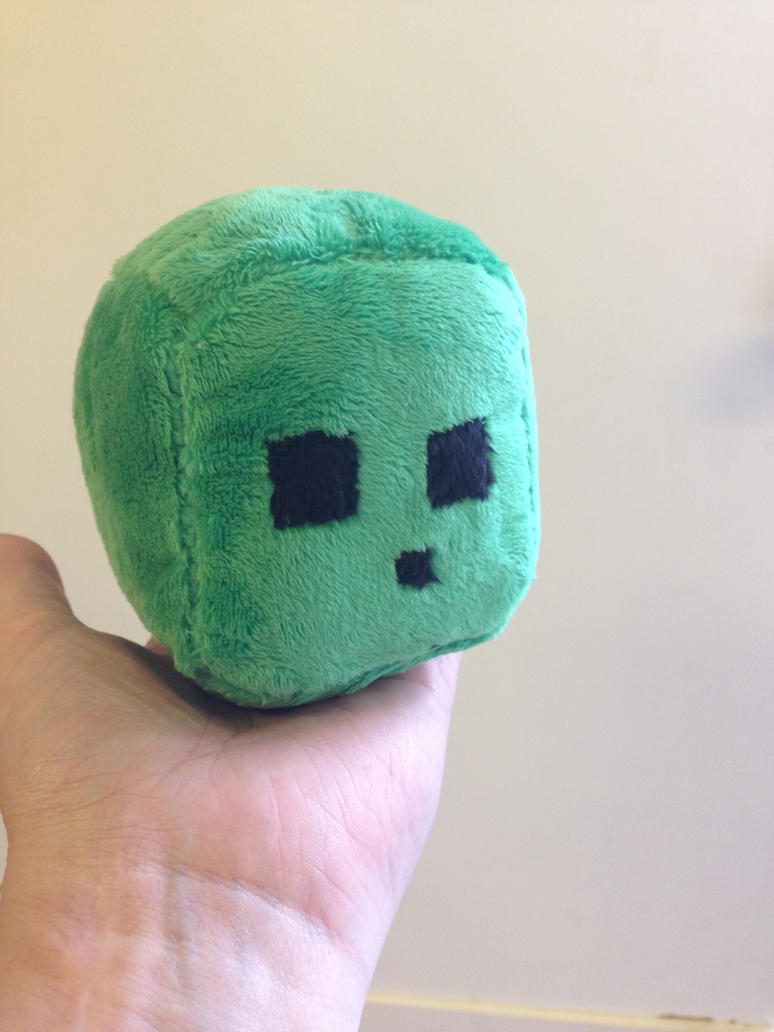 small minecraft slime plush by Blindfaith-boo