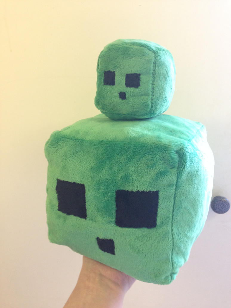 Minecraft slime plushies by Blindfaith-boo