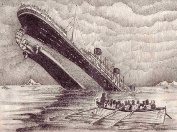 Titanic Wreck Drawing Titanic Sketch By...900 x 654