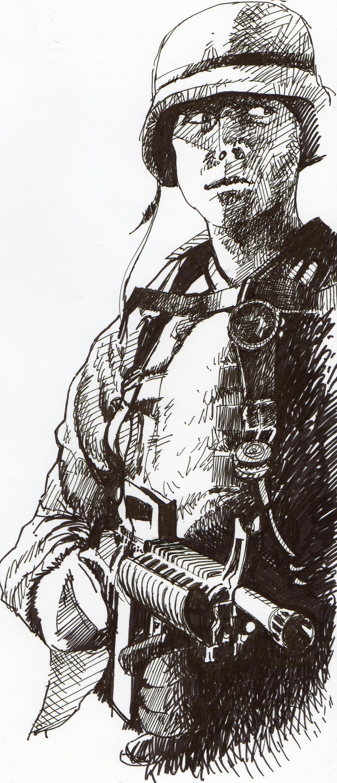 Soldier illustration by VladJovanovic