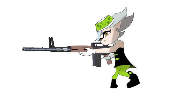 Marie with a AR-10