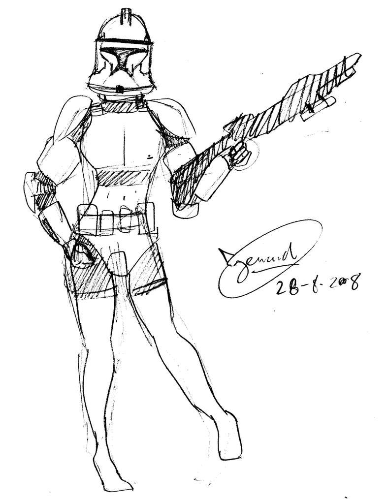 storm trooper coloring page - female stormtrooper by kerarta on deviantart